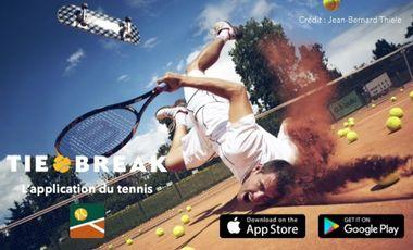Project visual L'application du tennis soutenue par Paul-Henri Mathieu