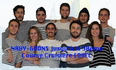 Project visual NAVY-GUONS jusqu'à la 50ème Course Croisière EDHEC!