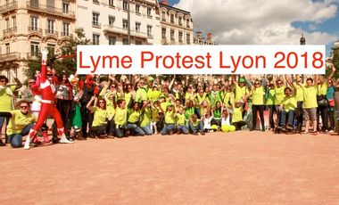 Project visual LYME Protest Lyon