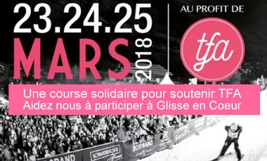 Project visual Glisse en Coeur pour soutenir TFA