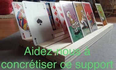 Project visual Support pour jeux de cartes