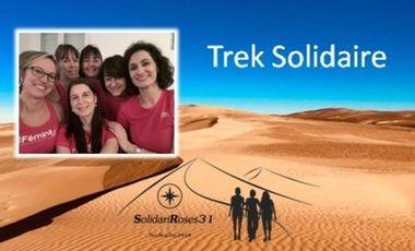 Project visual Trek Solidaire dans le désert Marocain