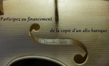Visuel du projet Construction d'une copie d'un alto baroque