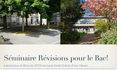 Visueel van project Séminaire : Révisions pour le Baccalauréat ST2S
