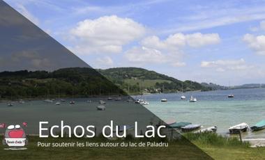 Visuel du projet ECHOS du LAC, votre site d'information du territoire du lac de Paladru.