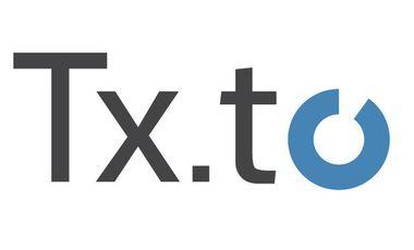 Visueel van project Txto