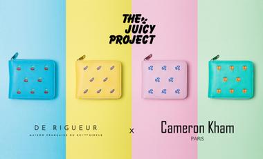 Visueel van project The Juicy Project : portefeuilles chargeurs funs, vegans et solidaires