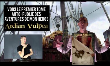 Project visual Promotion et aide à la diffusion d'un roman d'aventures fantasy flibuste