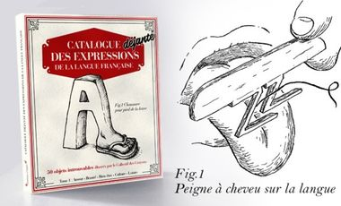Project visual Le premier catalogue qui détourne les expressions françaises