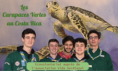 Visueel van project Les Carapaces Vertes au Costa Rica