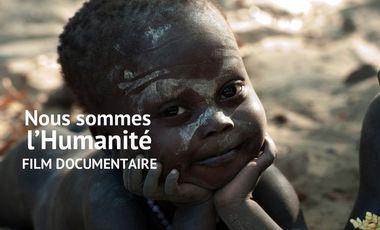 Visueel van project Nous sommes l'Humanité, le documentaire avec les Jarawas au cinéma le 2 mai