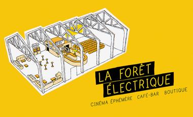 Visuel du projet LA FORÊT ÉLECTRIQUE : un cinéma éphémère ⚡