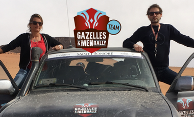 Visueel van project Sophie, Xavier: en route pour le Gazelles & Men Rally  TEAM Epicure
