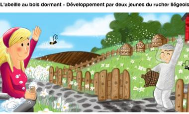 Project visual L'abeille au bois dormant - Développement par deux jeunes du rucher liégeois