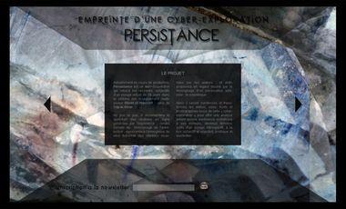 Visuel du projet Persistance, empreinte d'une cyber-exploration