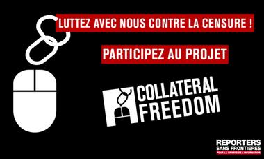 Visueel van project Aidez RSF à débloquer 24 sites internet censurés !