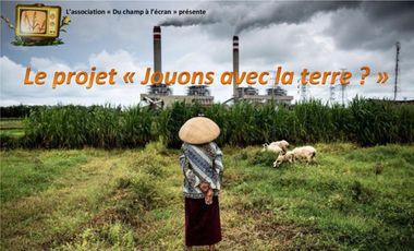 """Visueel van project """"Jouons avec la terre ?"""" : Regards croisés sur l'accaparement de terres en Indonésie"""