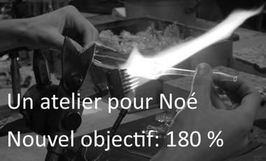 Visuel du projet Aidez Noé à créer son premier atelier de souffleur de verre