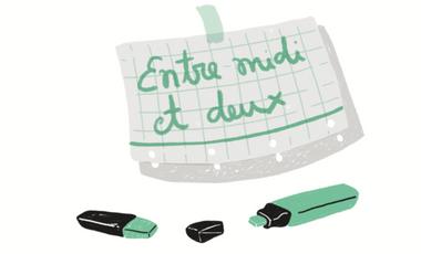 """Project visual Bande Dessinée """"Entre midi et deux"""""""