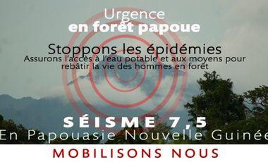 Visuel du projet Urgence en forêt papoue/ Emergency in the Papua New Guinea forest