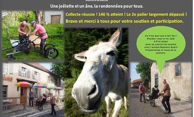 Project visual Une joëlette, un âne : la rando accessible à tous !