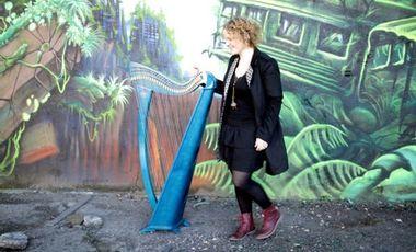 Project visual Virginie Harpe celtique 1 er Album