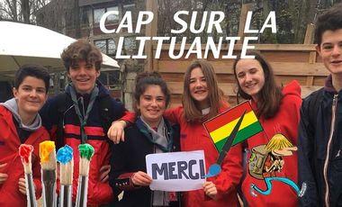 Visueel van project À vos pinceaux les scouts et CAP sur la Lituanie !