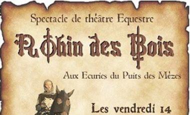 Visuel du projet ROBIN DES BOIS, spectacle de théâtre équestre