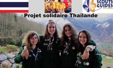 Project visual Les scoutes solidaires : quatre compagnons et un orphelinat thaïlandais