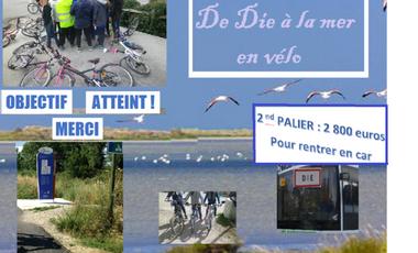 Visuel du projet 110 Enfants à Vélo de Die à la Mer. Pour financer notre cantine mobile !