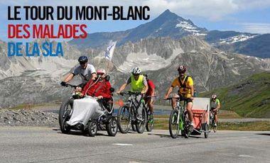 Project visual Le Tour du Mont-Blanc des malades de la SLA