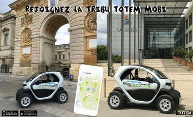 Visueel van project TOTEM Montpellier : l'autopartage électrique avec stationnement libre et gratuit