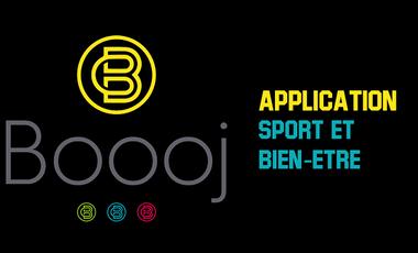 Project visual Boooj, l'application sport et bien-être