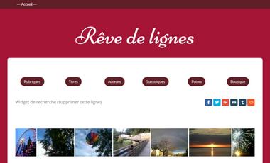 Visueel van project Rêve de lignes, un site web pour rémunérer les auteurs