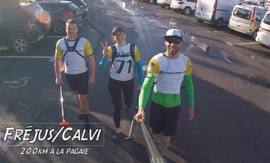 Project visual Fréjus/Calvi à la pagaie, contre le cancer et pour les enfants handicapés