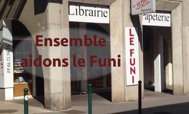 Project visual Soutien à l'existence de la librairie LE FUNI à Lyon !