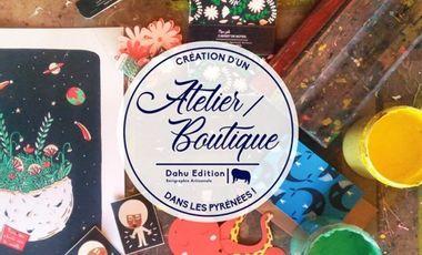 Project visual Dahu Edition crée un Atelier/Boutique au coeur des Pyrénées