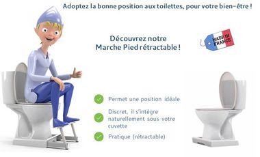 Project visual Le Marche Pied rétractable pour vos toilettes, made in France !