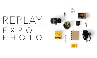 """Visueel van project Expo Photo """"Replay 2018"""""""