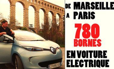 Visueel van project De la Bonne-Mère à La Tour Eiffel, 780 bornes en voiture éléctrique