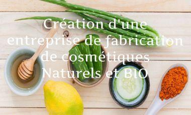 Project visual Création d'une entreprise de fabrication de cosmétiques BIO et naturels.