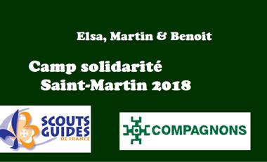 Visueel van project Camp solidaire à St Martin (Elsa, Benoit et Martin)