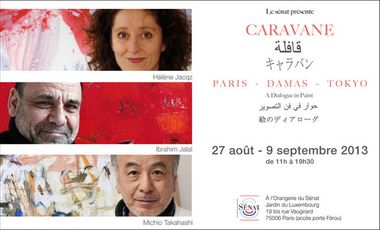 Project visual Caravane- Paris/Damas/Tokyo - a dialogue in paint