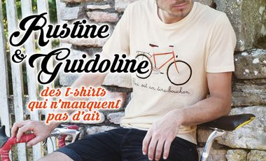 Project visual Rustine & Guidoline - des t-shirts qui n'manquent pas d'air !