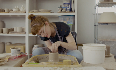 Project visual A studio at home for the ceramic artist Cybèle B.Pilon