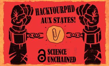 """Visuel du projet HackYourPhD aux """"States"""""""