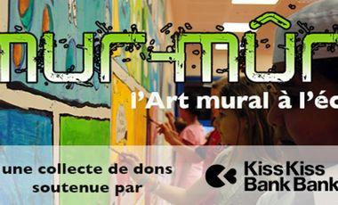 Visueel van project Mur-Mûr, l'art mural à l'école...