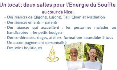 Project visual Deux salles associatives pour du Qigong, Lujong, Taijiquan et Méditation à Nice