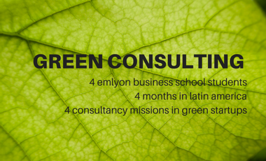 Project visual Green Consulting : à la rencontre des startups durables en Amérique latine