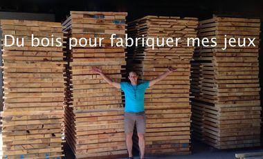 Visuel du projet Du bois local pour fabriquer mes jeux de construction artistique